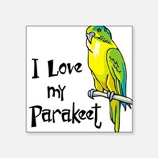 1074h1255Ilovemyparakeet trans.png Square Sticker