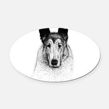 smoothhead.png Oval Car Magnet