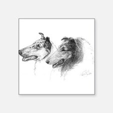 "collies1b.png Square Sticker 3"" x 3"""