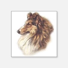 "collie4circle.png Square Sticker 3"" x 3"""