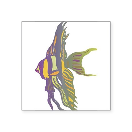 """1996625angelfish.png Square Sticker 3"""" x 3"""""""