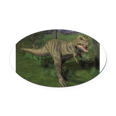 t rex 1ctrans.png Oval Car Magnet