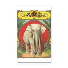 White Elephant Rectangle Car Magnet
