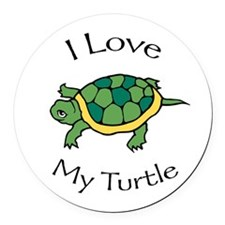 I love my Turtle Round Car Magnet