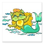 1060h1230kittymermaid.png Square Car Magnet 3