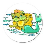 1060h1230kittymermaid.png Round Car Magnet