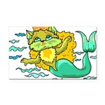 1060h1230kittymermaid.png Rectangle Car Magnet
