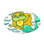 1060h1230kittymermaid.png Oval Car Magnet