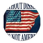 WITHOUTDISSENT2b.png Round Car Magnet