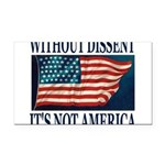 WITHOUTDISSENT2b.png Rectangle Car Magnet