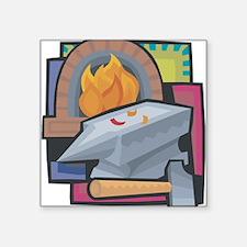 """21547190blacksmithing.png Square Sticker 3"""" x 3"""""""
