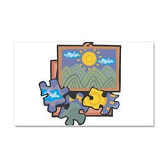 21547093puzzles.png Car Magnet 20 x 12