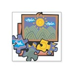 21547093puzzles.png Square Sticker 3