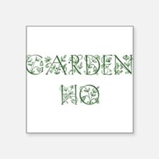 "gardenho dark.png Square Sticker 3"" x 3"""