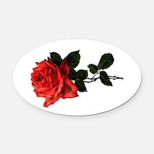 redrose.png Oval Car Magnet