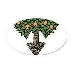 Art Nouveau Orange Tree Oval Car Magnet