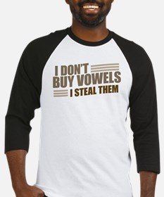 Can I Steal a Vowel? Baseball Jersey