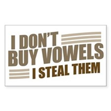 Can I Steal a Vowel? Rectangle Decal