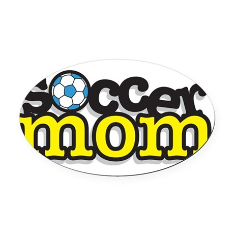 32447696soccermom.png Oval Car Magnet