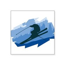 "33042071skier.png Square Sticker 3"" x 3"""