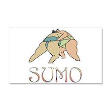 sumo.png Car Magnet 20 x 12