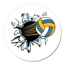 32209855volleyballburst.png Round Car Magnet