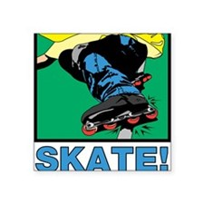 """32213477inlineskater.png Square Sticker 3"""" x 3"""""""