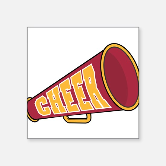 """32220852cheer.png Square Sticker 3"""" x 3"""""""