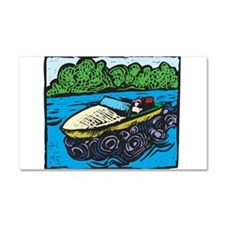 20371768motorboat.png Car Magnet 20 x 12