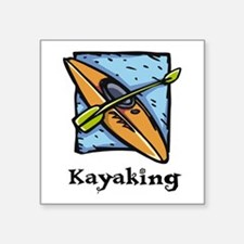 "Kayaking Square Sticker 3"" x 3"""