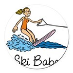 skibabe0665h1191.png Round Car Magnet