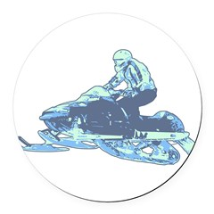 32191729snowmobile.png Round Car Magnet