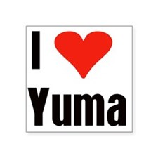 "heart-Yuma2.png Square Sticker 3"" x 3"""