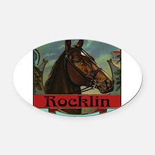 Rocklin Oval Car Magnet