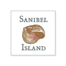 "sanibel island shell .png Square Sticker 3"" x 3"""