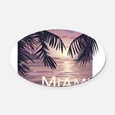 1074h5430palmwaters.png Oval Car Magnet