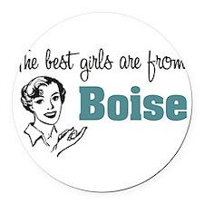 coolestgirlsBoise.png Round Car Magnet