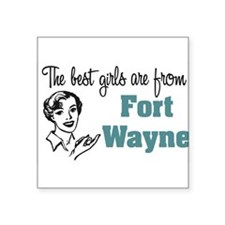 "coolestgirlsFortWayne.png Square Sticker 3"" x 3"""