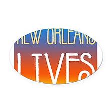 NOLives3.png Oval Car Magnet