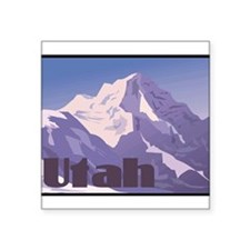 "1074h5451mountain.png Square Sticker 3"" x 3"""