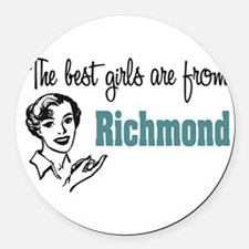 coolestgirlsRichmond.png Round Car Magnet