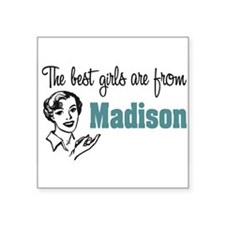 "coolestgirlsMadison.png Square Sticker 3"" x 3"""