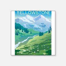 """1074h5411mountainstream.png Square Sticker 3"""" x 3"""""""