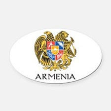 Armenian Coat of Arms Oval Car Magnet
