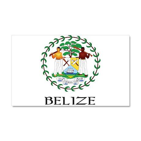 Coat_of_arms_of_Belize22 DARK.png Car Magnet 20 x