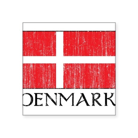 """1663148Denmark.png Square Sticker 3"""" x 3"""""""