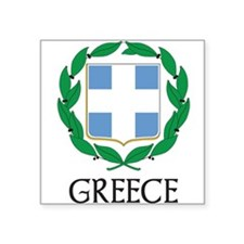 Coat_of_arms_of_Greece 2 DARK.png Square Sticker 3