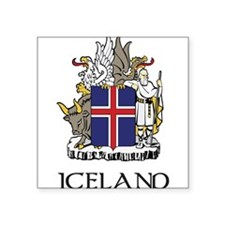 Coat_of_Arms_of_Iceland 2 DARK.png Square Sticker