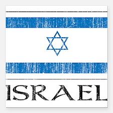 "1663220Israel.png Square Car Magnet 3"" x 3"""