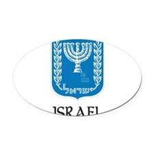 Coat_of_arms_of_Israel 2 DARK.png Oval Car Magnet